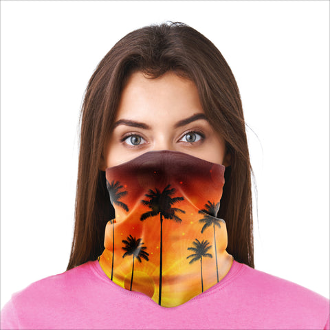 Bandana Mask - Palm Tree Sunset