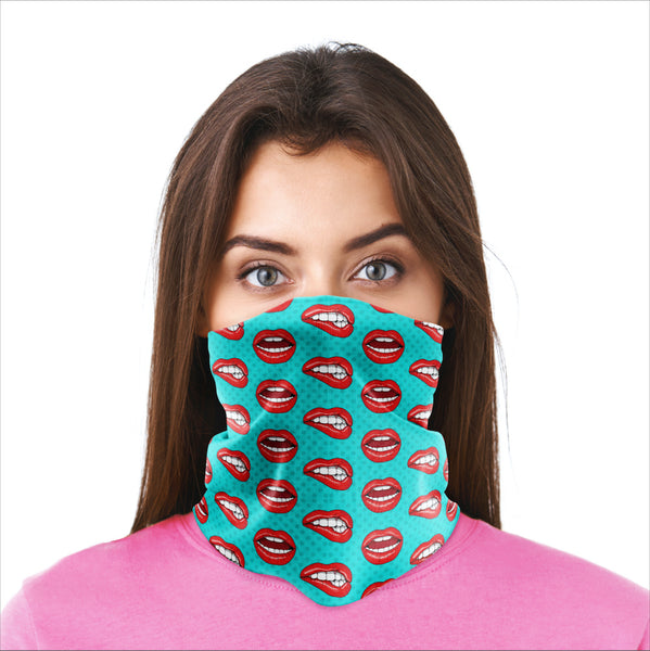 Bandana Mask - Lips