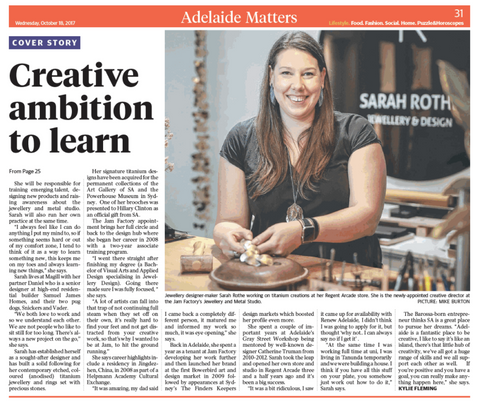 Adelaide Matters Sarah Rothe October 2017