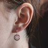 Daisy Earrings Maroon