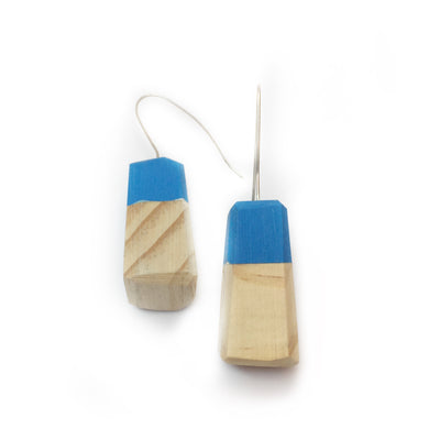 Wood and Resin Drops // 'Two Tone' Blue // Erica Sandgren