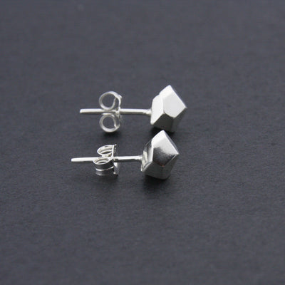 Facet Studs // small // sterling silver // Leonie Simpson