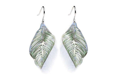 Forest Floor Leaf Earrings Mint