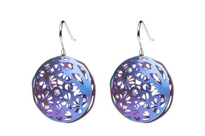 Pillowed Pines Earrings Violet