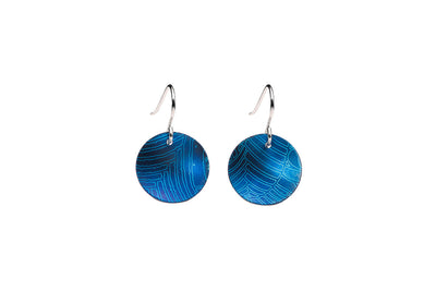 The Minimalist Small Drop Earrings - Blue