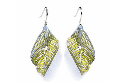 Forest Floor Leaf Earrings Yellow