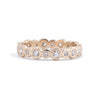 Alternating Diamond Eternity Band 18ct Gold