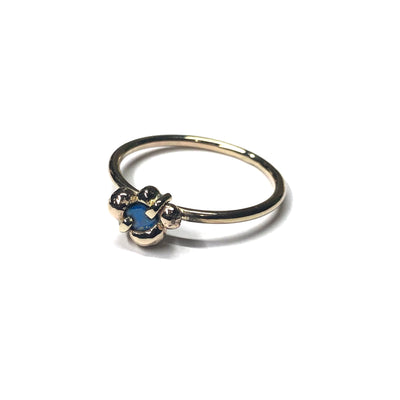 9ct Yellow Gold and Blue Sapphire Ring