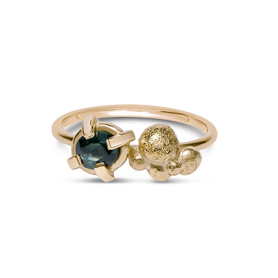 Mon Cuer Ring / Sapphire / 9ct YG + Nuggets