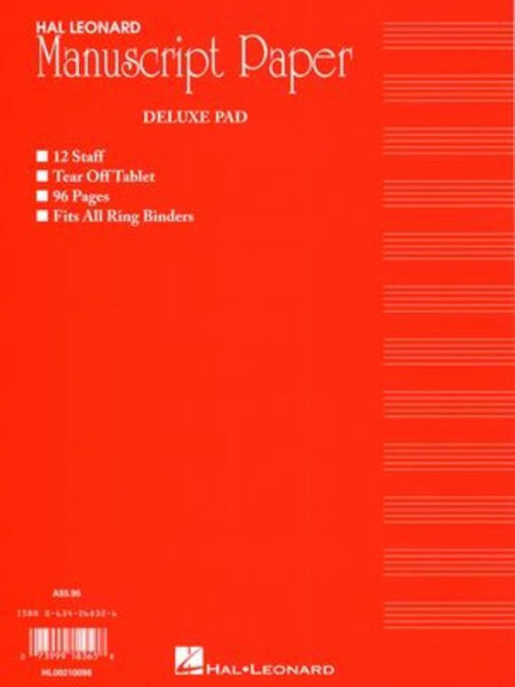Deluxe Manuscript Pad 96 Pages (Red) Australian