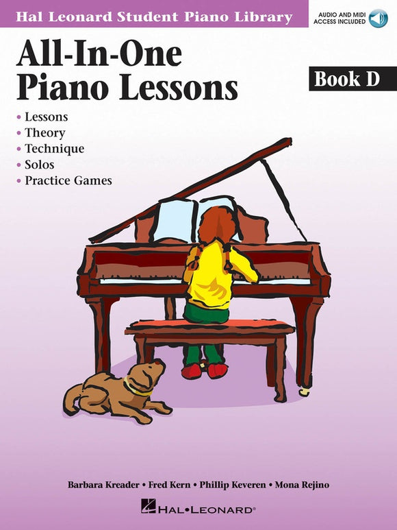 All-in-One Piano Lessons Book D