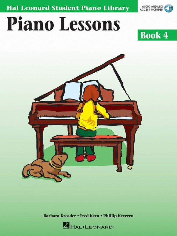 Piano Lessons - Book 4 - with Audio Access