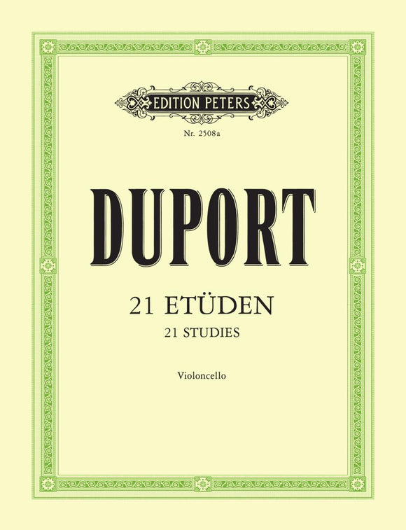 Duport: 21 Studies for Cello