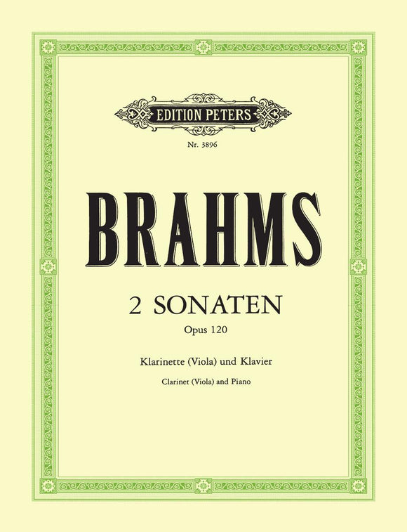 Brahms: 2 Sonatas Op. 120 for Clarinet (Viola) & Piano