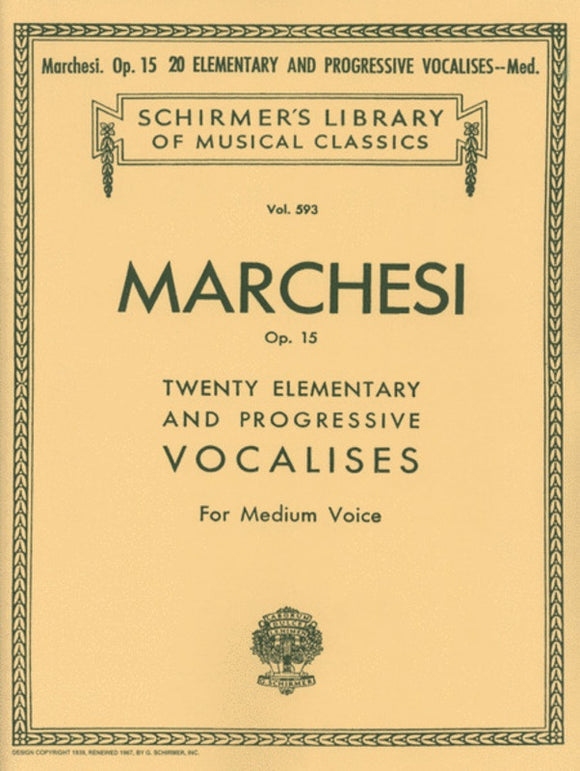 Marchesi: Twenty Elementary and Progressive Vocalises, Op.15