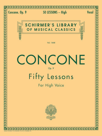 Concone: Fifty Lessons, Op. 9