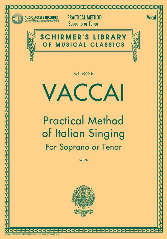 Vaccai: Practical Method of Italian Singing