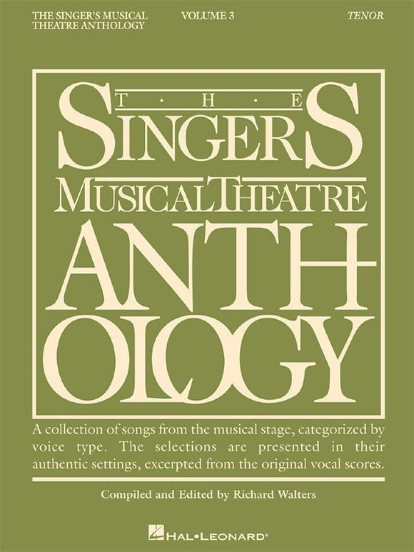 The Singer's Musical Theatre Anthology Vol.3 - Tenor