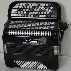 Paloma 5072 Button Accordion 5 Row 72 Bass