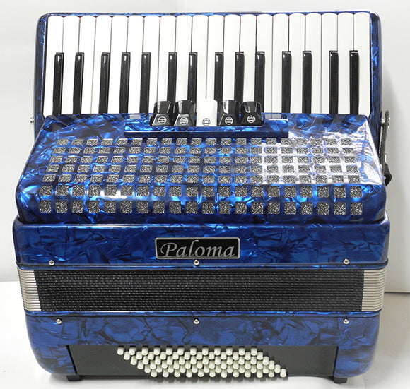 Paloma 722db 72 Bass Accordion Dark Blue