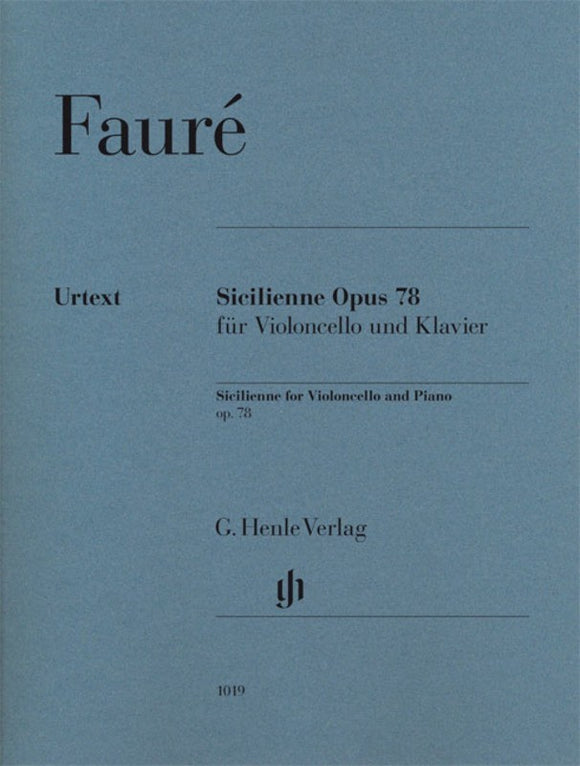 Faure: Sicilienne Op 78 Cello & Piano