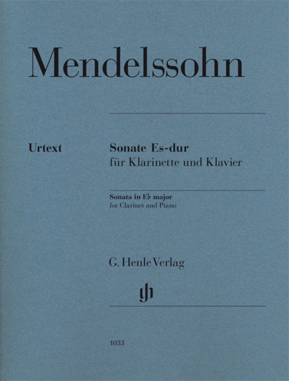 Mendelssohn: Clarinet Sonata in E-flat Major Clarinet & Piano