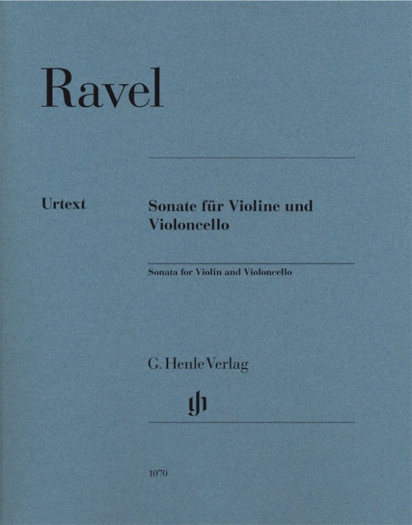Ravel: Sonata for Violin & Cello