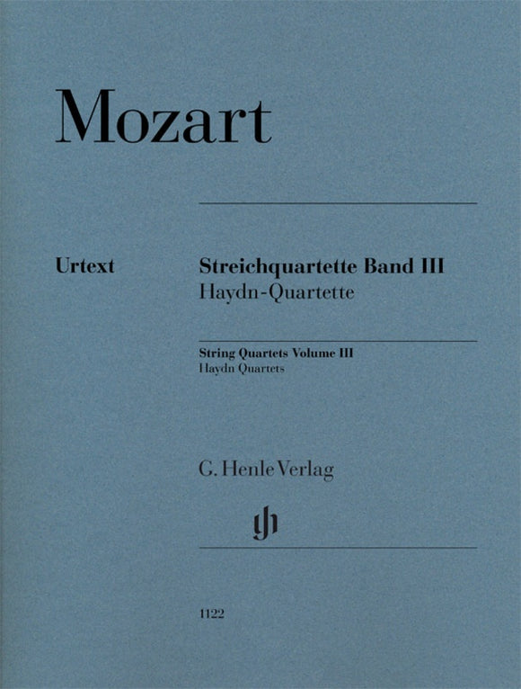 Mozart: Mozart String Quartets Volume III - Set of Parts