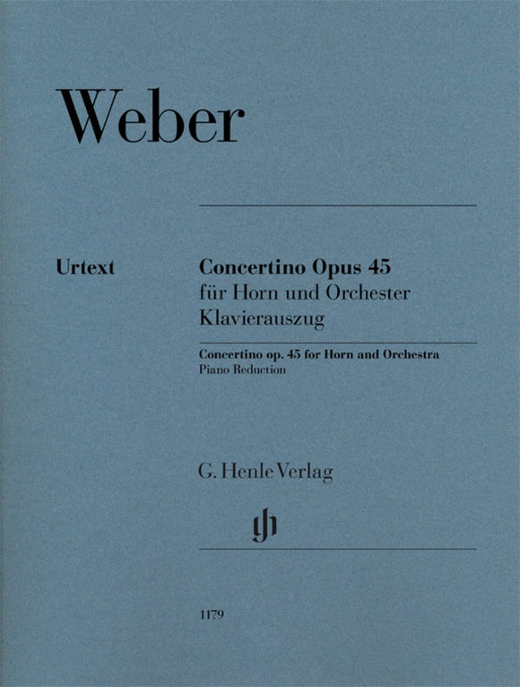 Weber: Concertino Op 45 for Horn & Piano
