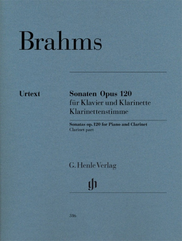 Brahms: Clarinet Sonata Op 120 Nos 1 & 2 Clarinet Part