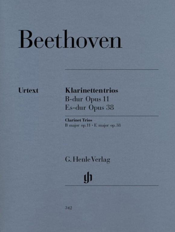 Beethoven: Clarinet Trios Op 11 und 38 Cla/Cello & Piano
