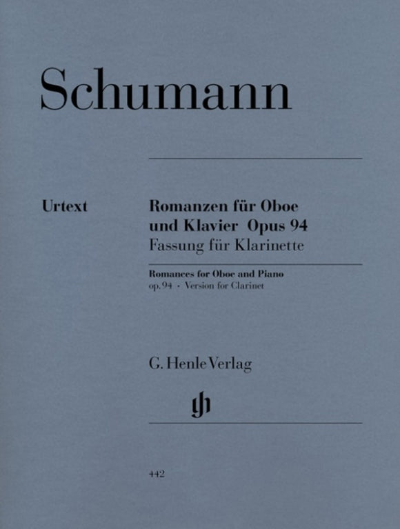 Schumann: Romances for Clarinet & Piano Op 94