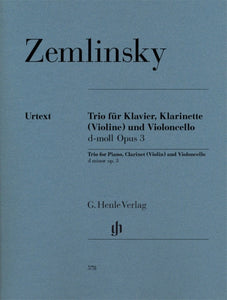 Zemlinsky: Trio in D Minor Op 3 Clarinet/Cello/Piano