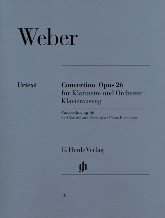 Weber: Clarinet Concertino Op 26 Clarinet & Piano