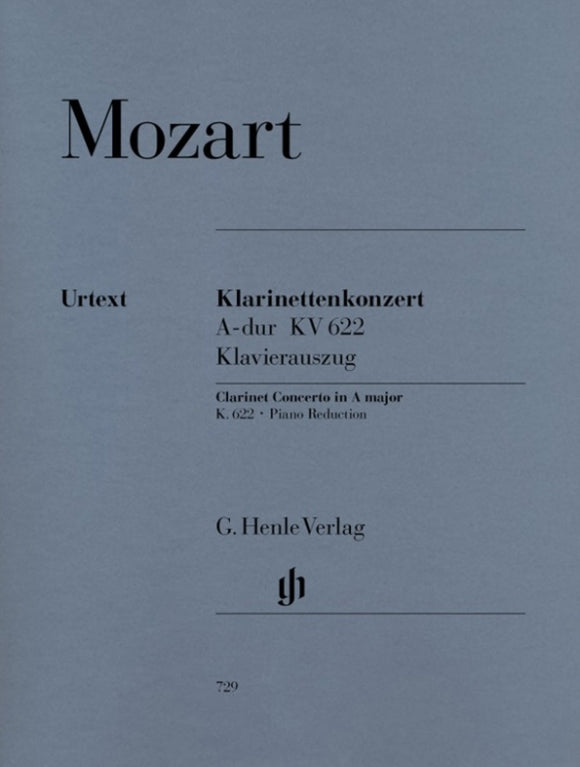 Mozart: Clarinet Concerto in A Major K 622 Clarinet & Piano