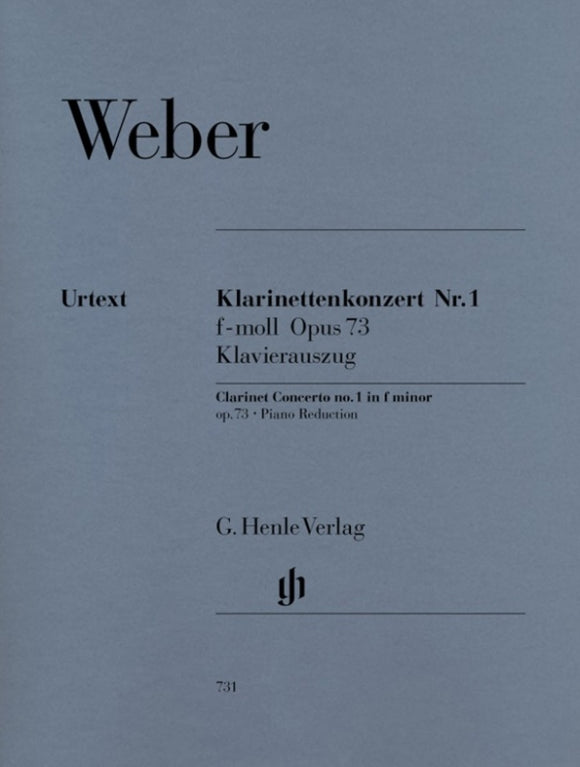 Weber: Clarinet Concerto in F Minor Op 73 No 1 Clarinet & Piano
