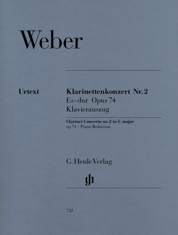 Weber: Clarinet Concerto E-flat Major Op 74 No 2 Clarinet & Piano