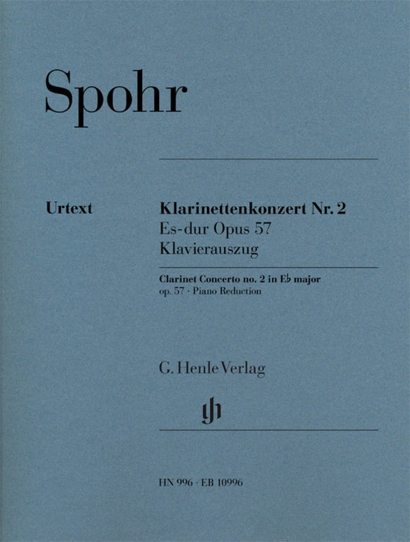 Spohr: Clarinet Concerto No 2 in Eb Major Op 57 Clarinet & Piano