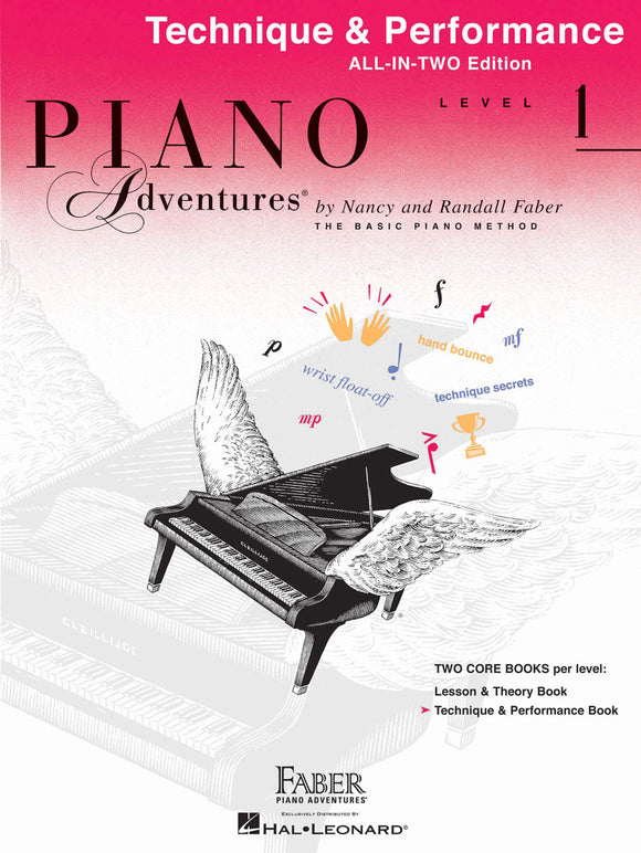 Piano Adventures All-In-Two Technique & Performance Book - Level 1