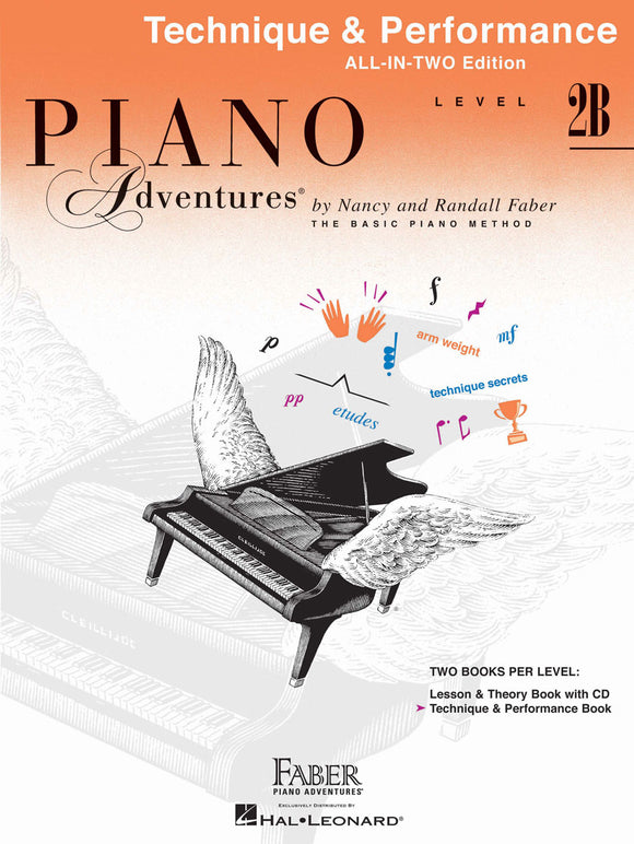 Piano Adventures All-In-Two Technique & Performance Book - Level 2B