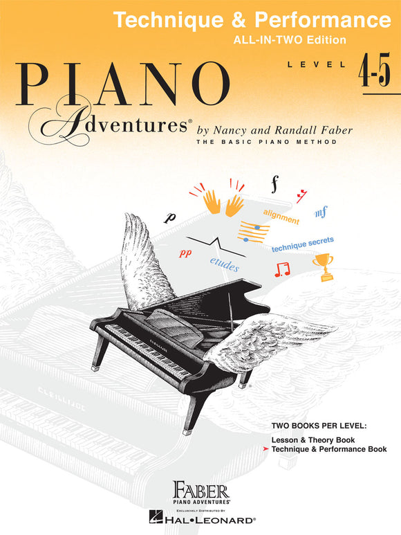 Piano Adventures All-In-Two Technique & Performance Book - Level 4-5