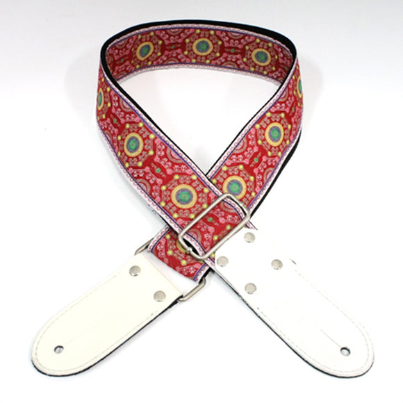 DSL Guitar Strap Jacquard Weaving Sal Red