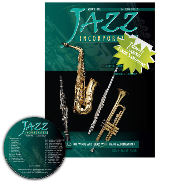 Jazz Incorporated Tpt/Cla/Tsax Vol. 1 Bk/CD
