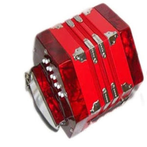 Paloma 701-20 Concertina 20 Button Red