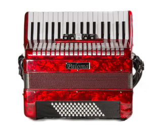 Paloma 722r 72 Bass Accordion Red
