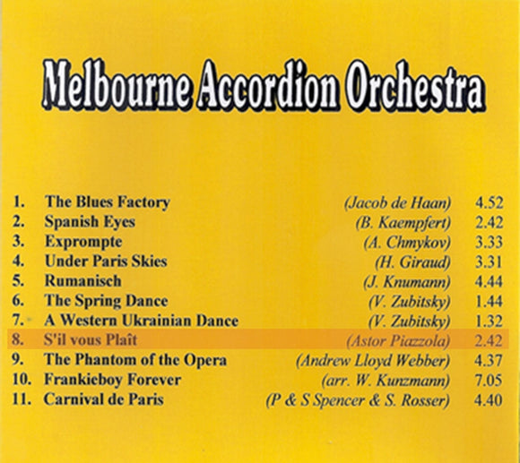 Melbourne Accordion Orchestra