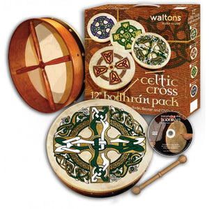 "Waltons 12"" Celtic Cross Bodhrán Pack"