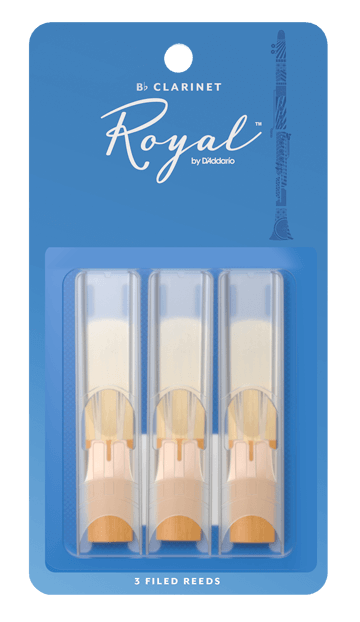 Rico Royal Bb Clarinet Reeds, 3-Pack