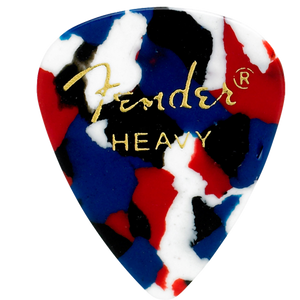 Fender 351 Shape Confetti Picks, Heavy - 12 Pack