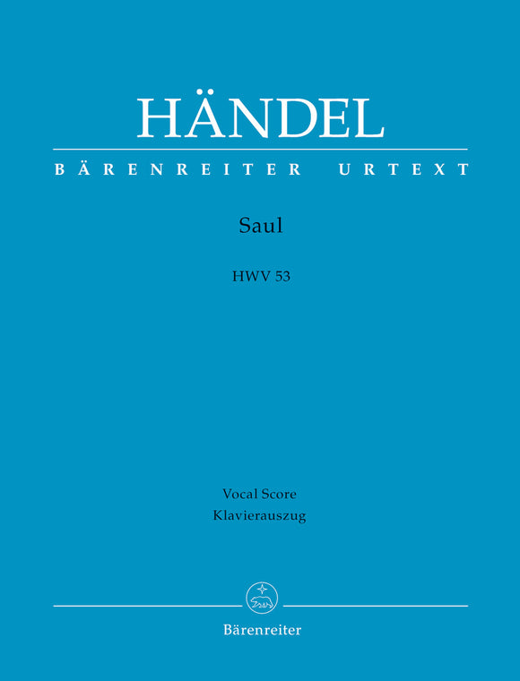 Handel: Saul HWV53 - Vocal Score (German, English)